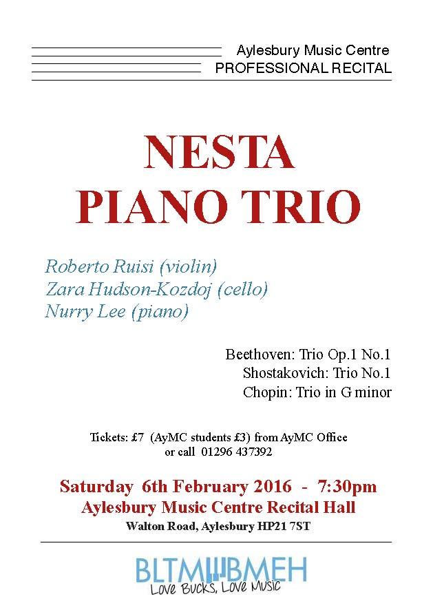 recital poster Trio