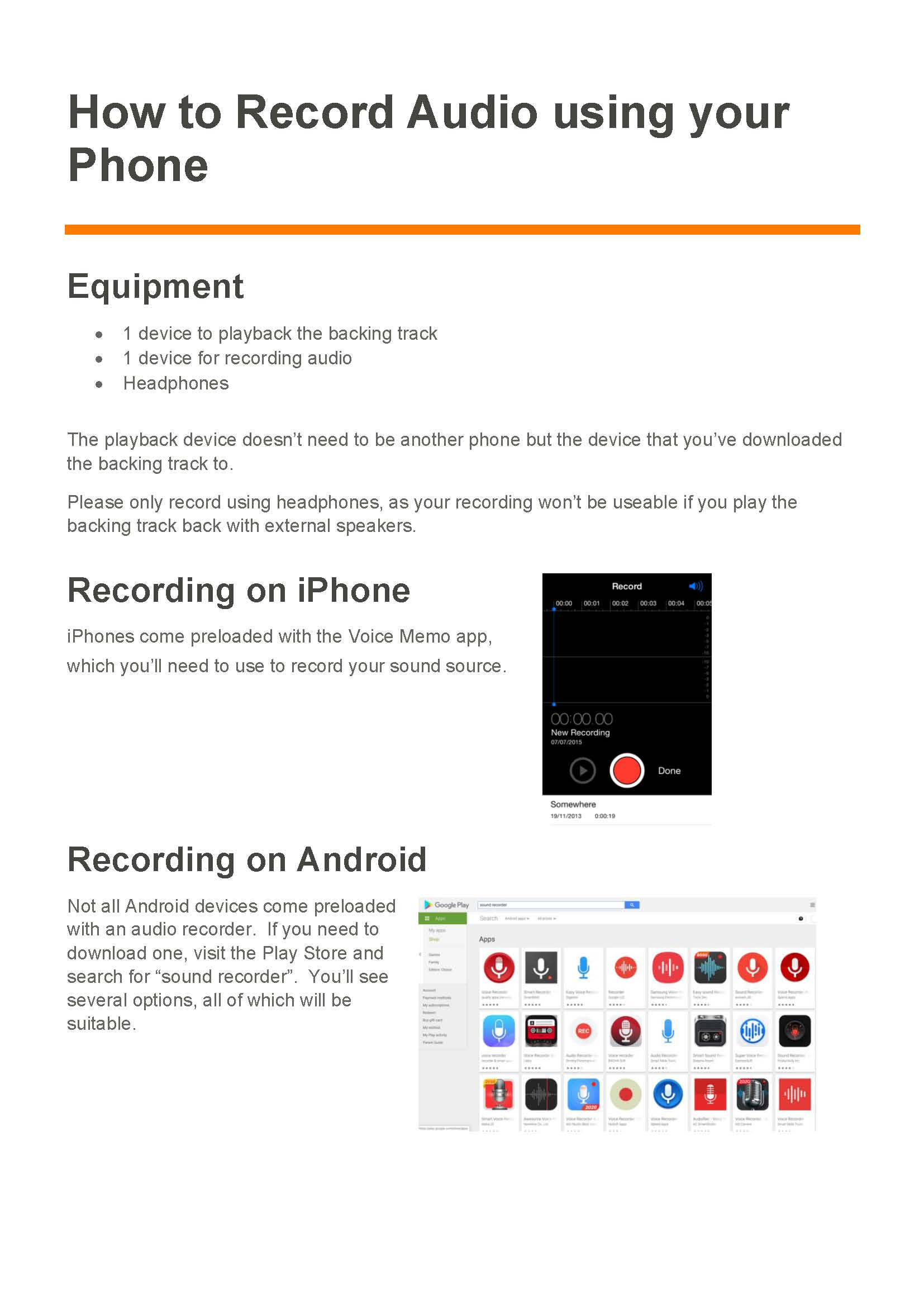 How to Record Audio using your Phone_Page_1