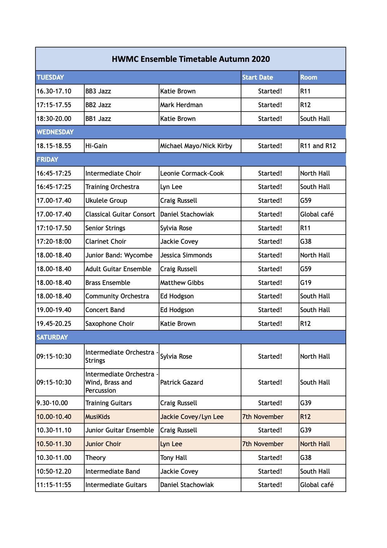HWMC Timetable 2020-21 OCT Sheet1